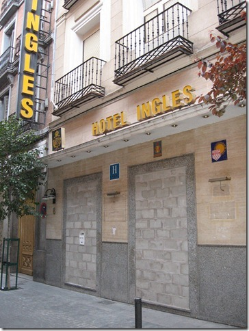 Photo de l'hôtel Inglès Madrid 2012